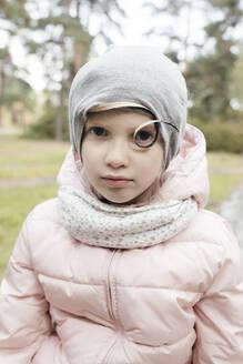 Portrait of a little girl in a park - EYAF00613