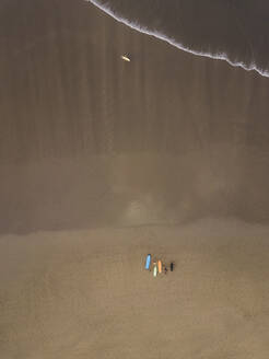 Aerial view of surfers at the beach - CAVF66858