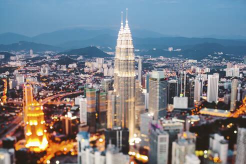 Cityscape of Kuala Lumpur at dusk, Malaysia - GIOF07413