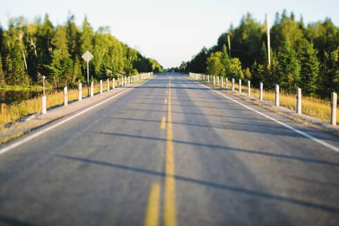 Empty road in Algonquin Provincial Park, Ontario, Canada - GIOF07428