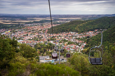 Townscape and chairlift, Thale, Saxony-Anhalt, Germany - FRF00877