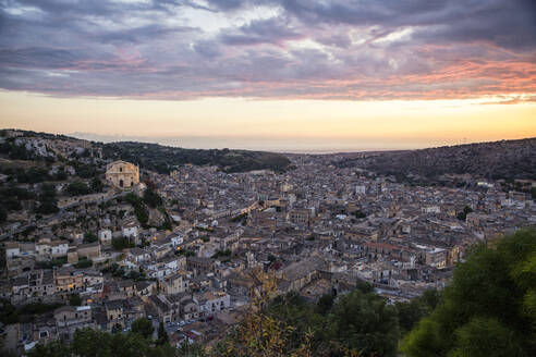 View of Scicli, Province of Ragusa, Sicily - MAMF00928