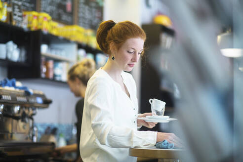 Young woman working in coffee shop - SGF02435