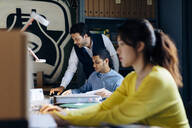 People working together in architect's office - SODF00190