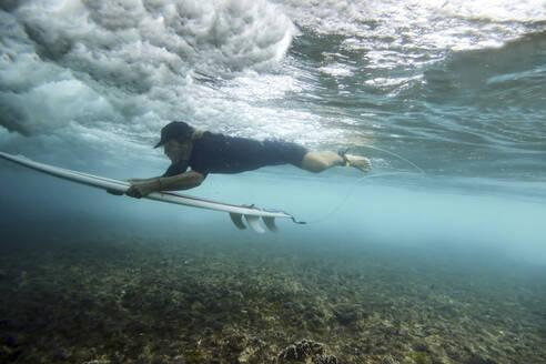 Underwater view of surfer - CAVF68714