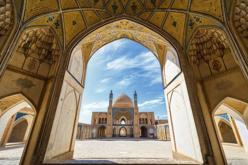 Agha Bozorg Mosque, Inner Courtyard, Kashan, Isfahan Province, Islamic Republic of Iran, Middle East - RHPLF12675