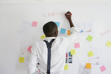 Young businessman working on a project in office - IGGF01470