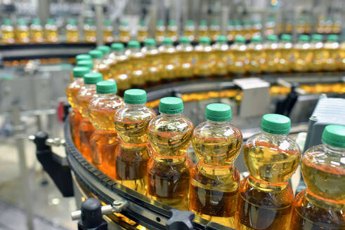 Apple-juice factory, bottling, apple juice - LYF00968