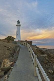 Lighthouse at dusk, Castlepoint, New Zealand - FOF11258