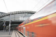 Reginoal train arriving at central station, Berlin, Germany - AHSF01585