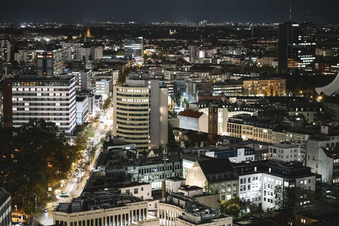 Cityscape at night, Berlin, Germany - AHSF01588