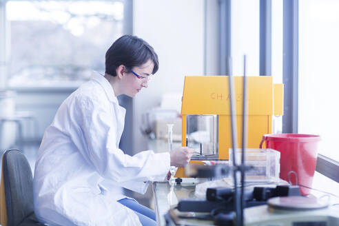 Female chemist at work - SGF02460