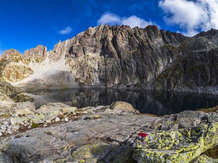 Mountain lake at Cima d'Asta, Fiemme Alps, Trentino, Italy - LAF02448