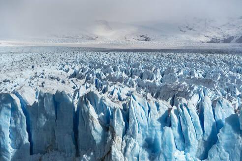 Close up on the ice of Perito Moreno glacier, Los Glaciares National Park, UNESCO World Heritage Site, Santa Cruz, Argentina, South America - RHPLF13153