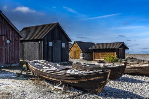 Wooden houses on sea coast - JOHF04972