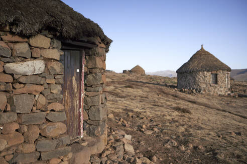 Traditional stone houses in Lesotho - VEGF01179