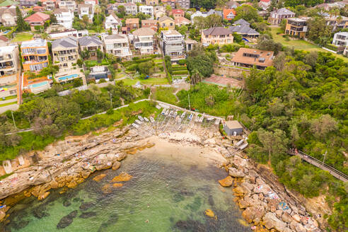 Aerial view of Gordons Bay natural reserve, Sydney, Australia. - AAEF06114