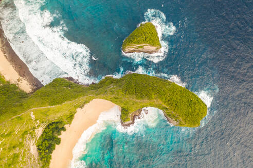 Aerial view above of scenic Paluang Cliff, Indonesia. - AAEF06195