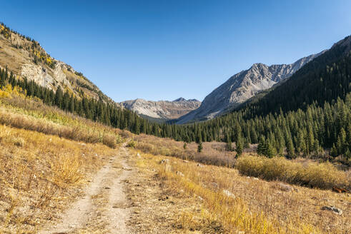 Fall Landscape in the Maroon Bells-Snowmass Wilderness - CAVF71914