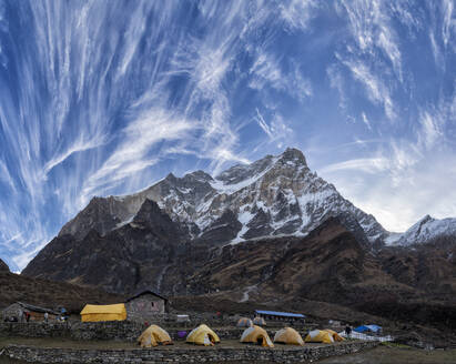 Dhaulagiri I, Italian Base Camp, Dhaulagiri Circuit Trek, Himalaya, Nepal - ALRF01631