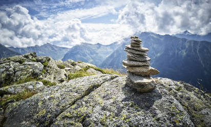 Cairn at Mount Fleckner, Passeier Valley, South Tyrol, Italy - DIKF00337