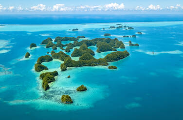 Palau, Aerial view of Seventy Islands - GNF01513