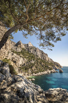 France, Cote d'Azur, Calanques National Park, Chalk cliffs and bays - MSUF00146
