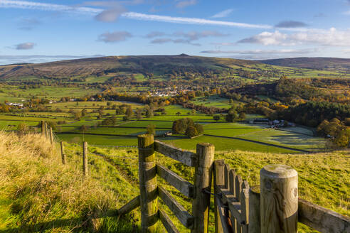 View of Hope in the Hope Valley, Derbyshire, Peak District National Park, England, United Kingdom, Europe - RHPLF13513