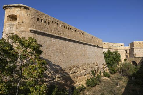 Malta, Valletta, Fort Saint Elmo, fortification built by Order of Saint John in 16th century - ABOF00485