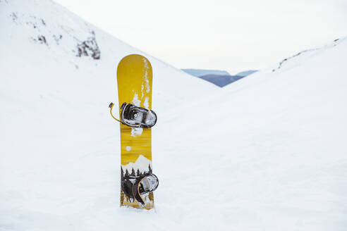 Snowboard on top of a snowy mountain - ACPF00663