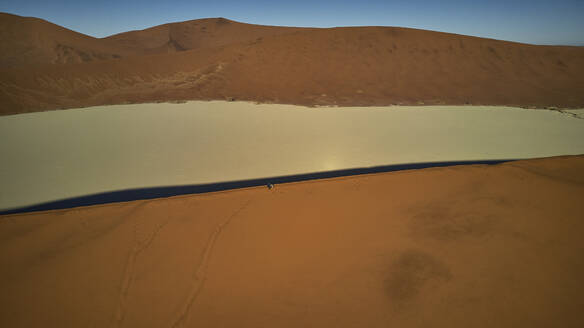 Aerial view of the orange sand dunes in the Namib desert, Namibia - VEGF01426