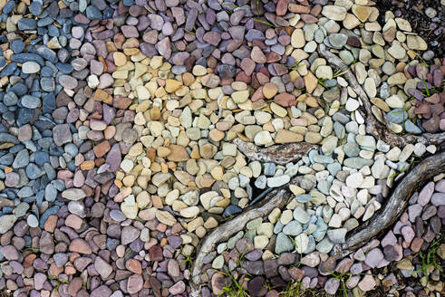 Overhead view of pebbles at Glacier National Park - CAVF73565