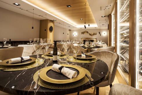 Interior of a fancy restaurant - VABF02547