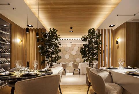 Interior of a fancy restaurant - VABF02550