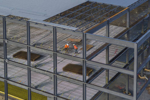 Workers at Commercial Building in Stone Mountain, Georgia - CAVF73718