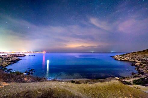 Mgiebah Bay in Malta at Night - CAVF73963