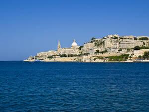 Valletta Skyline as seen from Marsamxett Harbour - CAVF74201