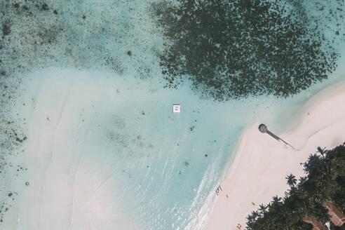 Platform in the sea, Maguhdhuvaa Island, Gaafu Dhaalu Atoll, Maldives - DAWF01214