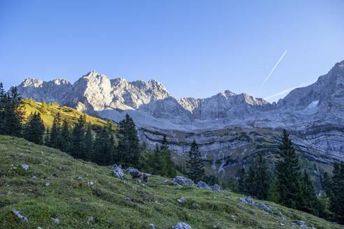 Karwendel mountains in autumn, Hinteriss, Austria - MAMF01109