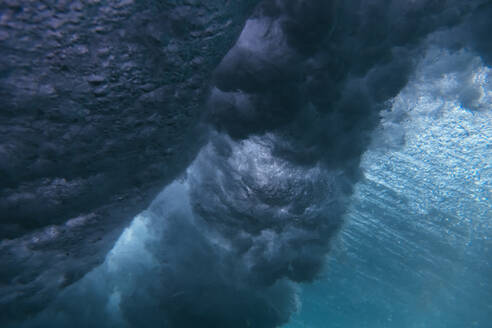 Indonesia, Bali, Underwater view of sea wave - KNTF04244