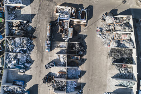 Aerial view of recycling station - JOHF07788
