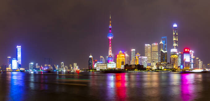 View of Pudong Skyline and Huangpu River from the Bund, Shanghai, China, Asia - RHPLF13822