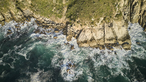 South Africa, Western Cape, Aerial view of rocky coast - VEGF01563