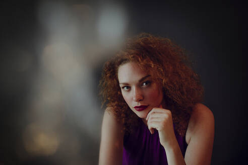Portrait of red-haired woman - OGF00117