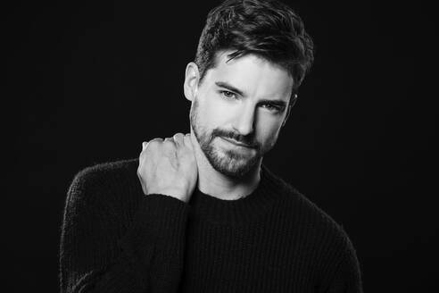 Portrait of attractive man with beard - SHKF00815