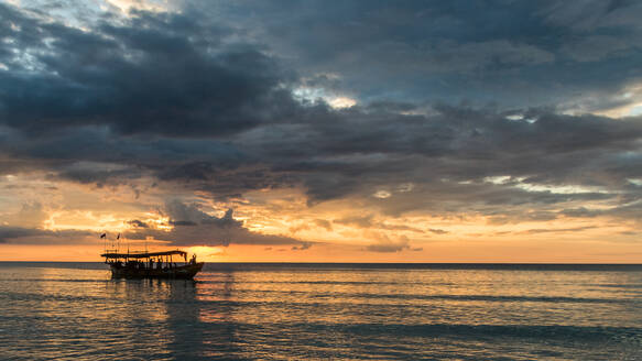 Tropical Sunset from Koh Rong Island, Cambodia - CAVF75239