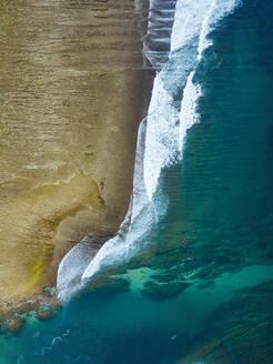 Aerial view of ocean coastline,Sumbawa,Indonesia - CAVF75508