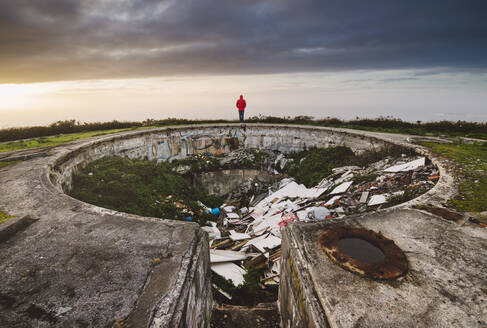 Illegal dump in old military area, Ferrol, Spain. - RAEF02358