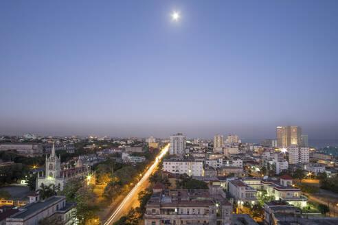 Cityscape at night, Havana, Cuba - PAF01920