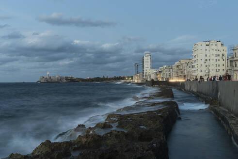 Malecon at dusk, Havana, Cuba - PAF01932